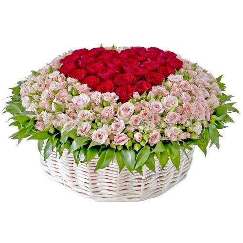 Купить на заказ Заказать Корзина с цветами 9 с доставкой по Богровое  с доставкой в Боровом