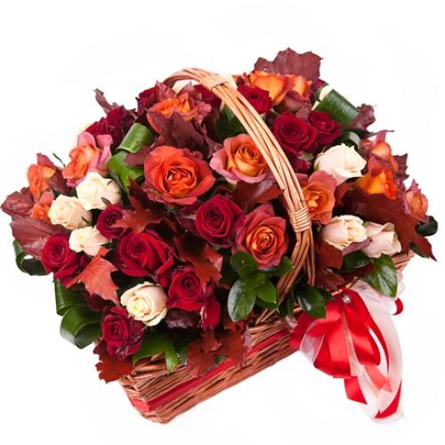 Купить на заказ Заказать Корзина с цветами 10 с доставкой по Богровое  с доставкой в Боровом