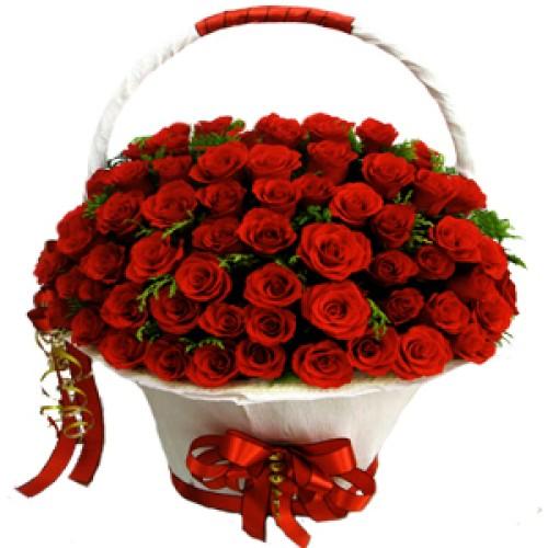 Купить на заказ Заказать Корзина с цветами 8 с доставкой по Богровое  с доставкой в Боровом