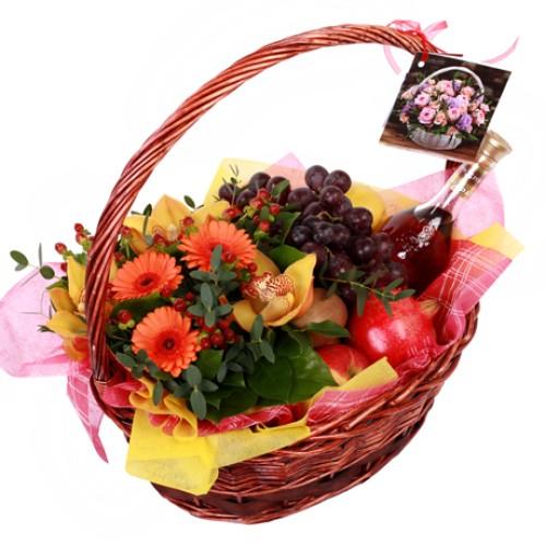 Купить на заказ Заказать Корзина с фруктами 9 с доставкой по Богровое  с доставкой в Боровом