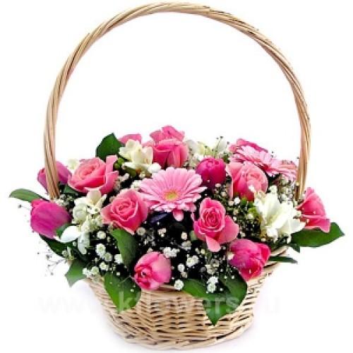 Купить на заказ Заказать Корзина с цветами 6 с доставкой по Богровое  с доставкой в Боровом