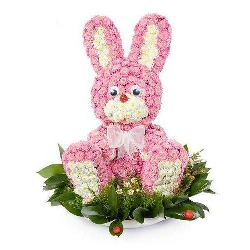 Купить на заказ Заказать Розовый зайчик с доставкой по Богровое  с доставкой в Боровом