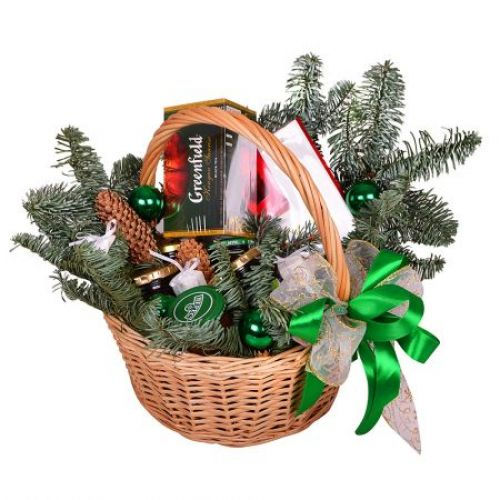 Купить на заказ Заказать Корзина «Подарок под елку» с доставкой по Богровое  с доставкой в Боровом