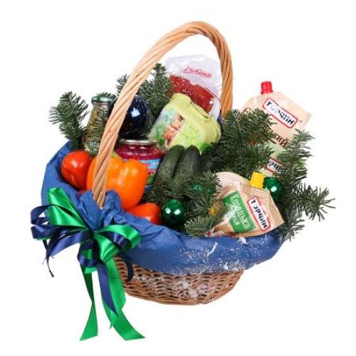 Купить на заказ Заказать Новогодняя корзина «Продуктовая» с доставкой по Богровое  с доставкой в Боровом