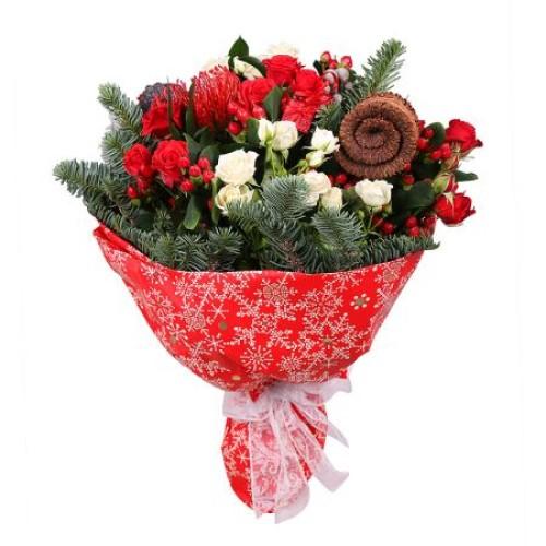 Купить на заказ Заказать Рождественский букет с доставкой по Богровое  с доставкой в Боровом