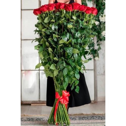 Купить на заказ Заказать 15 полтораметровых роз с доставкой по Богровое  с доставкой в Боровом