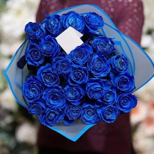 Купить на заказ Заказать 25 синих роз с доставкой по Богровое  с доставкой в Боровом