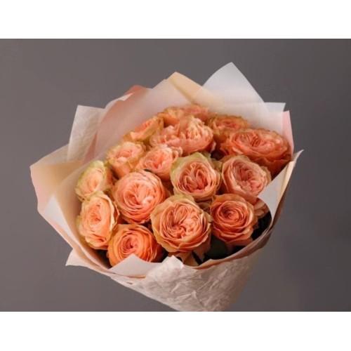 Купить на заказ Заказать 15 пионовидных роз с доставкой по Богровое  с доставкой в Боровом