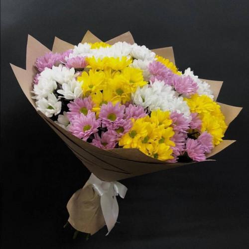 Купить на заказ Заказать 15 хризантем с доставкой по Богровое  с доставкой в Боровом