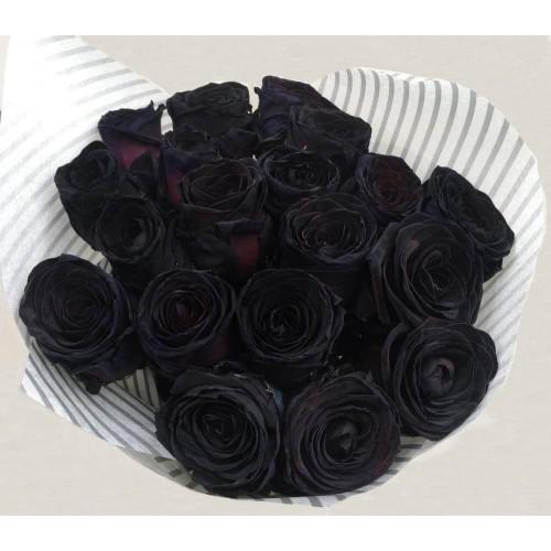 Купить на заказ Заказать 15 черных роз с доставкой по Богровое  с доставкой в Боровом
