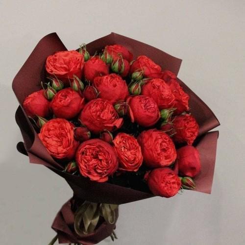 Купить на заказ Заказать 21 пионовидные розы с доставкой по Богровое  с доставкой в Боровом