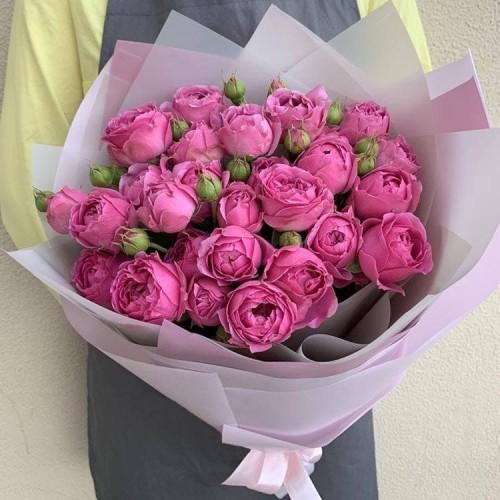Купить на заказ Заказать 25 пионовидных роз с доставкой по Богровое  с доставкой в Боровом