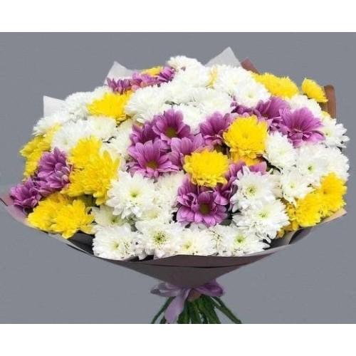 Купить на заказ Заказать 25 хризантем с доставкой по Богровое  с доставкой в Боровом