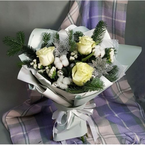 Купить на заказ Заказать Букет «Снежная королева» с доставкой по Богровое  с доставкой в Боровом