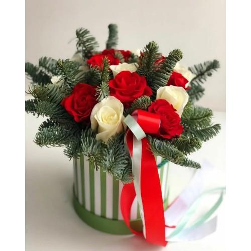 Купить на заказ Заказать Букет «Яркое Рождество» с доставкой по Богровое  с доставкой в Боровом