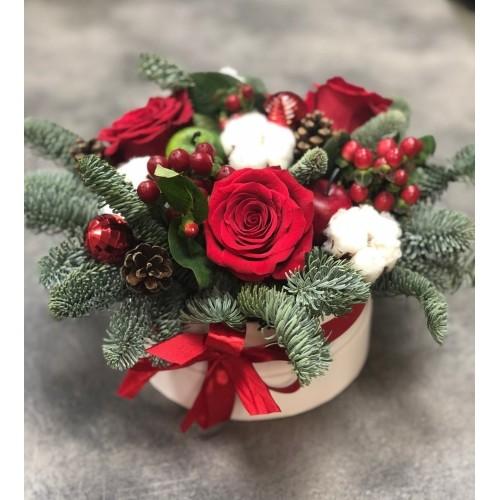 Купить на заказ Заказать Букет «Веселый Санта» с доставкой по Богровое  с доставкой в Боровом