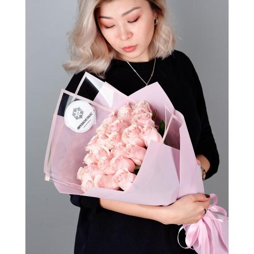 Купить на заказ Заказать Букет из 25 розовых роз с доставкой по Богровое  с доставкой в Боровом