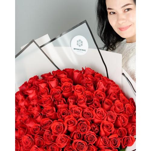 Купить на заказ Заказать Букет из 101 красной розы с доставкой по Богровое  с доставкой в Боровом