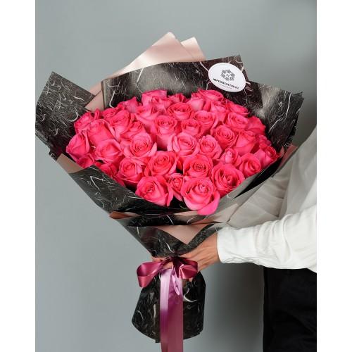 Купить на заказ Заказать Букет из 51 розовых роз с доставкой по Богровое  с доставкой в Боровом