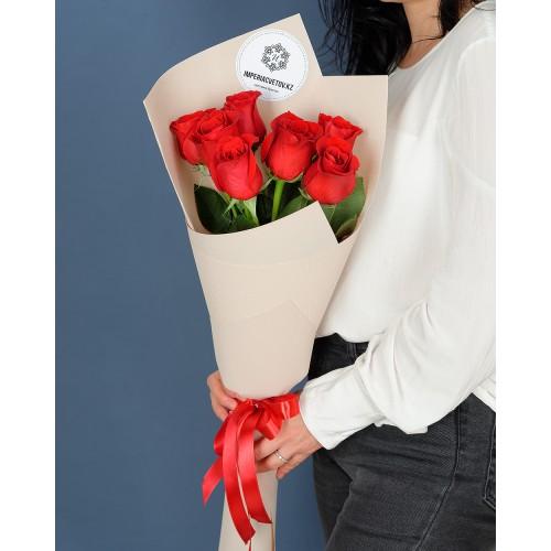 Купить на заказ Заказать Букет из 7 роз с доставкой по Богровое  с доставкой в Боровом