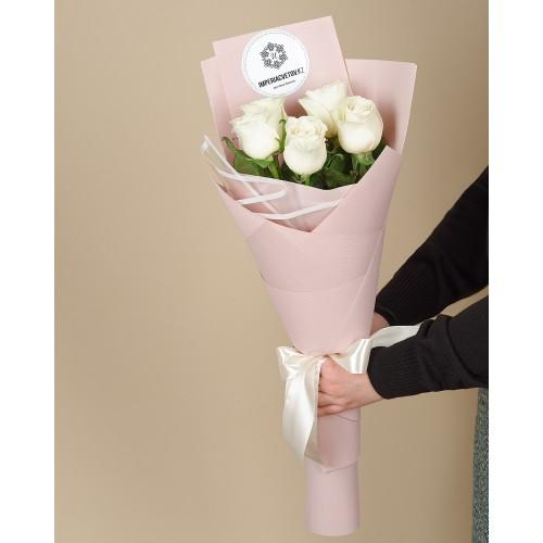 Купить на заказ Заказать Букет из 5 роз с доставкой по Богровое  с доставкой в Боровом