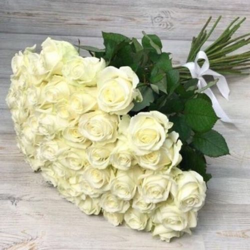 Купить на заказ Заказать Букет из 51 белой розы с доставкой по Богровое  с доставкой в Боровом