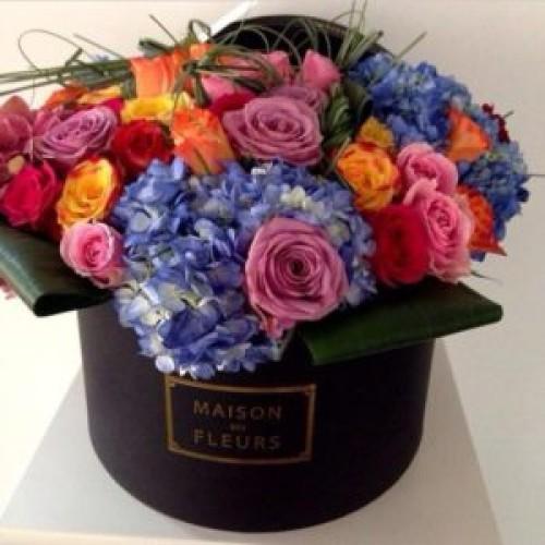 Купить на заказ Заказать Композиция Милан в коробке Maison с доставкой по Богровое  с доставкой в Боровом