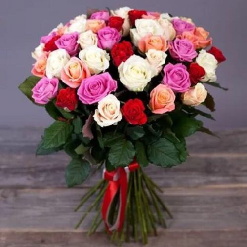 Купить на заказ Заказать Букет из 31 розы (микс) с доставкой по Богровое  с доставкой в Боровом